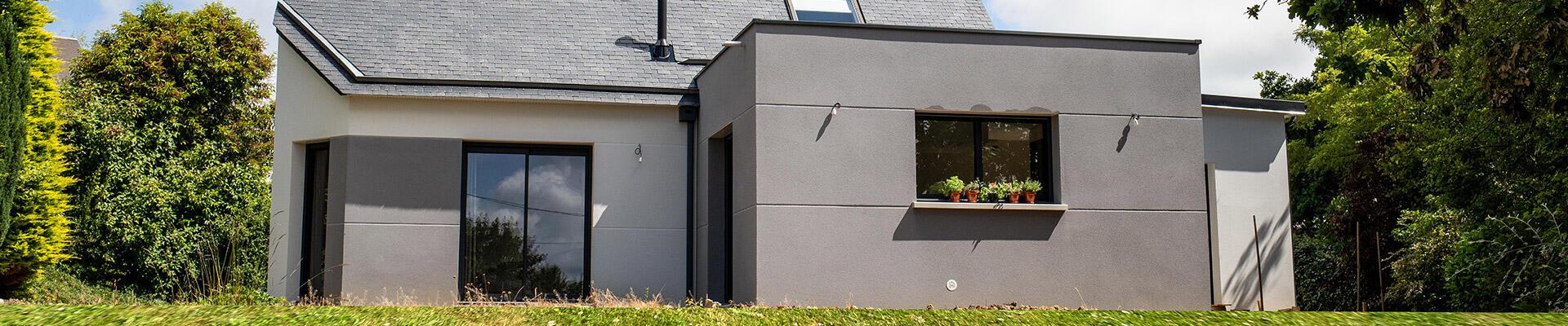 Projet construction : MAISON MODERNE à LONGUEVILLE (50)